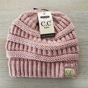 NWT C.C. Light pink knit kid's beanie